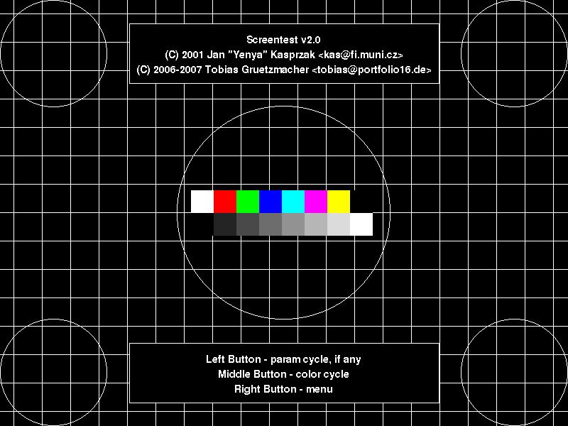 Screentest - monitor testing utility